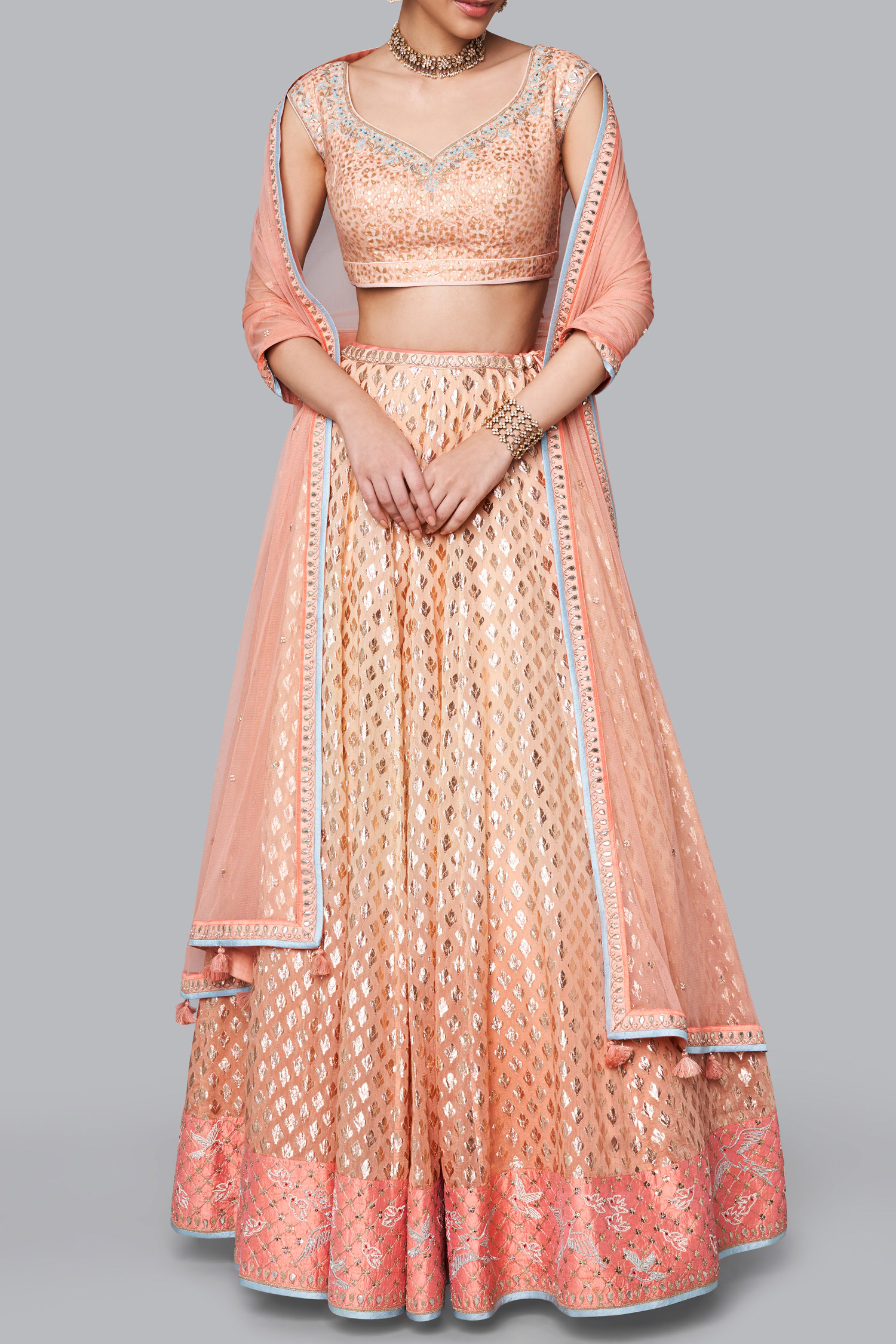 Image result for peach brocade gown