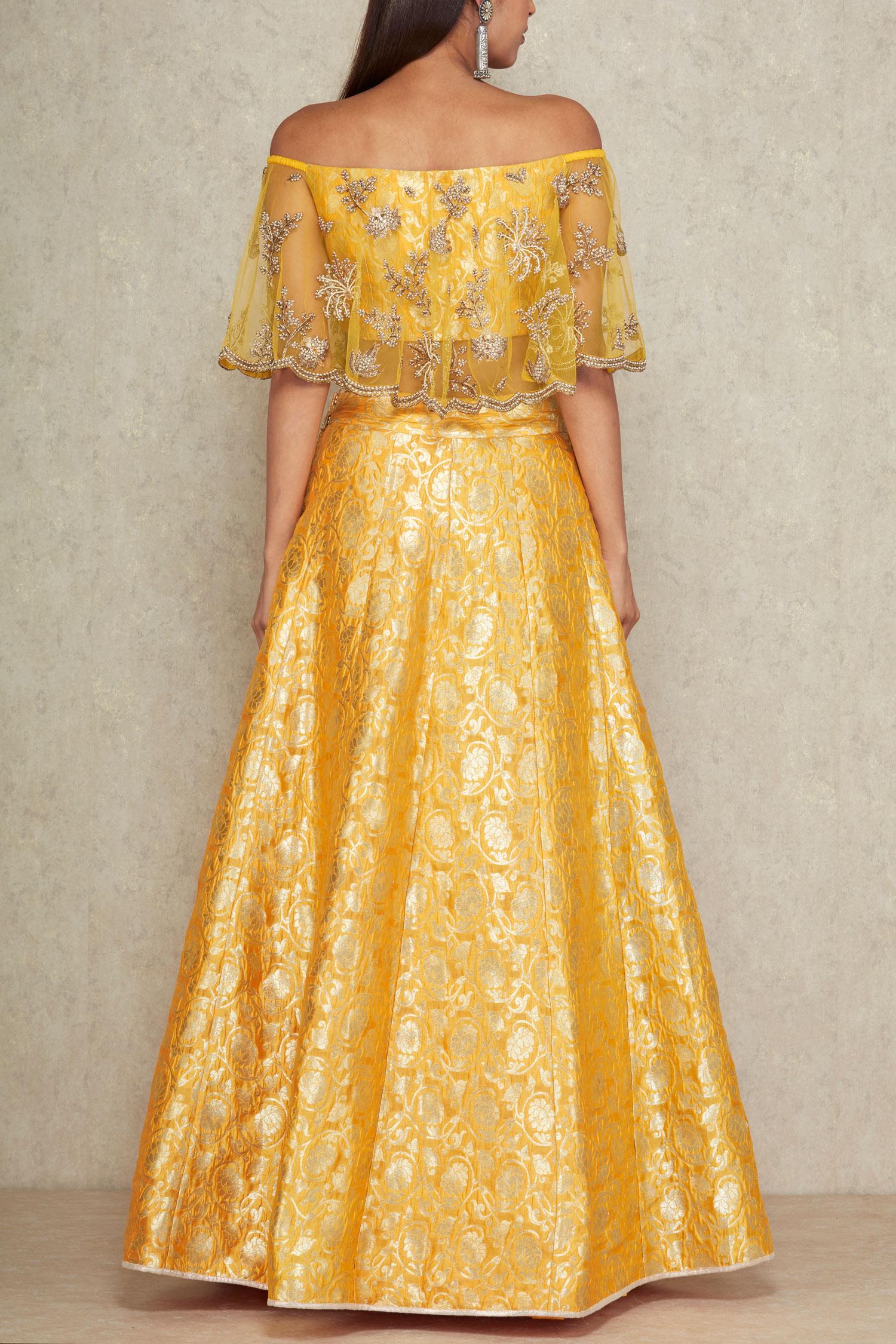 352be7bf770 Off shoulder blouse and lehenga set - Payal Singhal - Designers - I ...