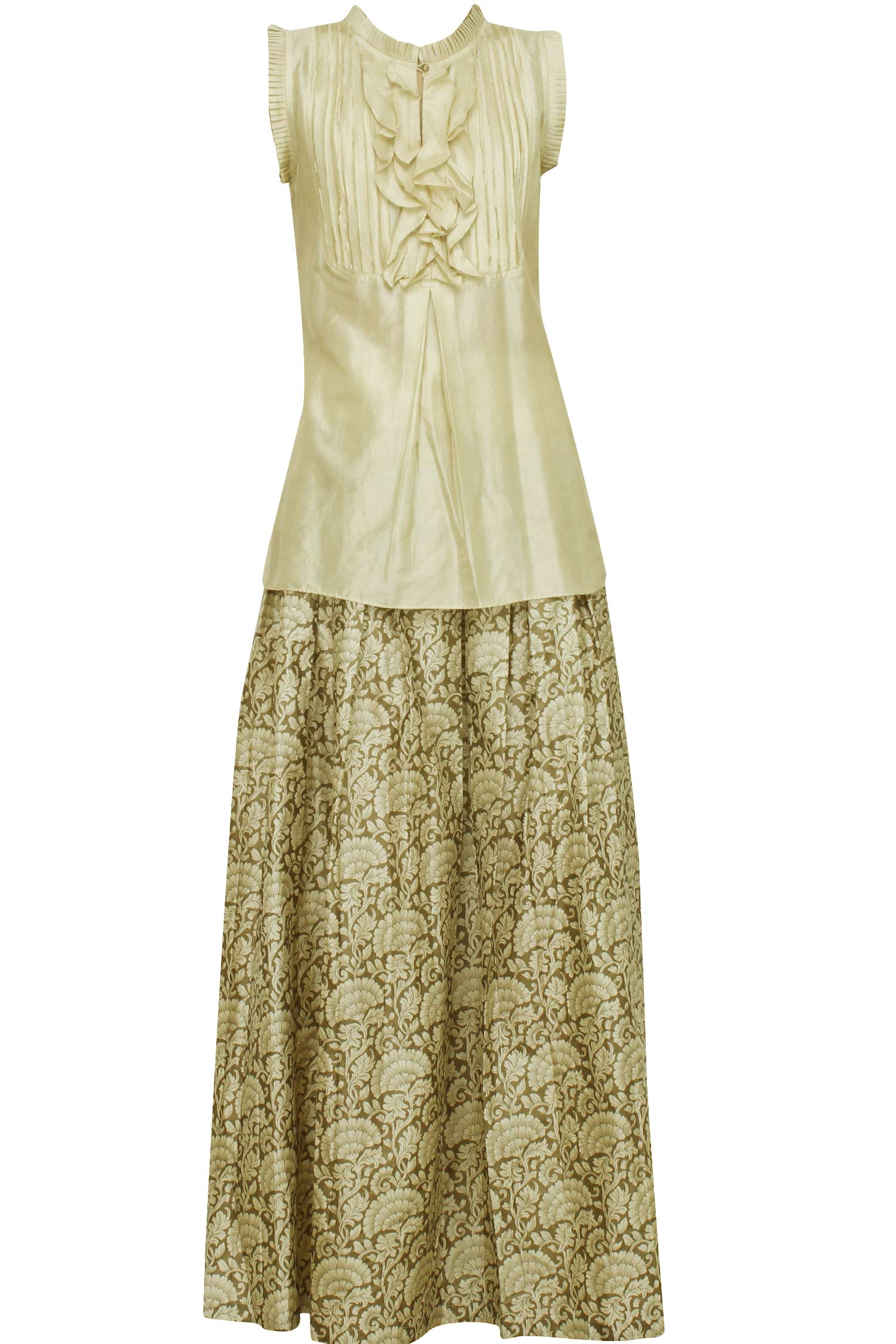 Ivory Silk Skirt 102