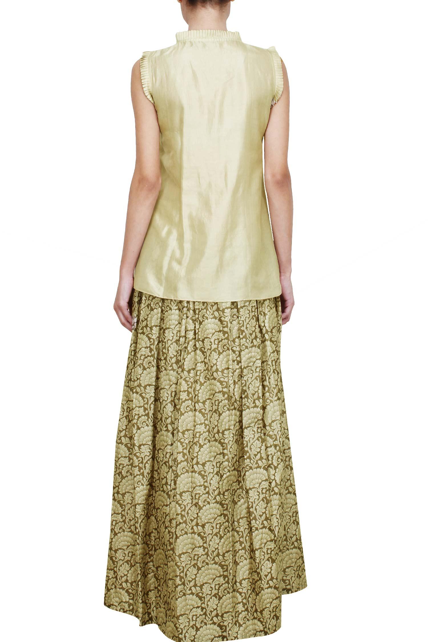 Ivory Silk Skirt 121