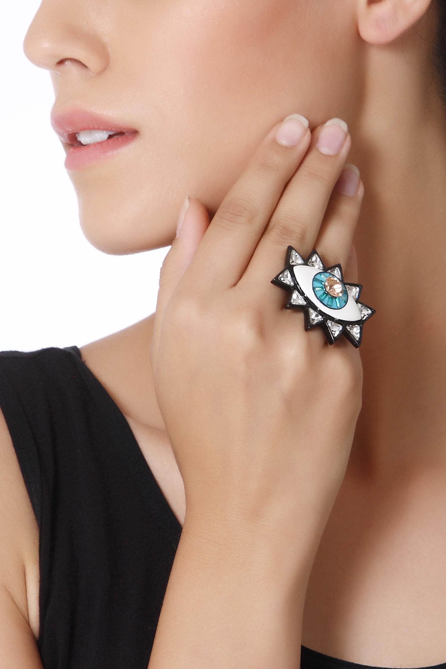 98fdff81e Evil Eye Ring - Valliyan - Designers